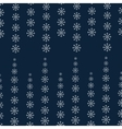 Snowflakes on blue Christmas background vector image vector image