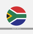 south africa round circle flag