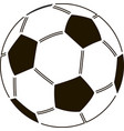 stencil of soccer ball vector image vector image