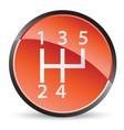 stick shift icon vector image