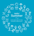 summer time round design template line icon vector image