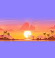 sunrise sky in ocean on tropical island heaven vector image vector image
