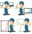 Technician or Repairman Mascot 16 vector image vector image