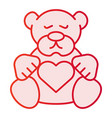 teddy bear flat icon plush toy pink icons in vector image