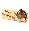 Thanksgiving sticker with turkey eps10 vector image