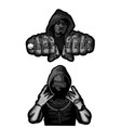 two rappers on white vector image vector image