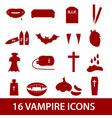 vampire icon set eps10 vector image