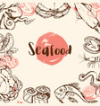 vintage seafood menu vector image vector image