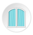 white window arched frame icon circle vector image vector image