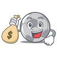 with money bag football character cartoon style vector image vector image