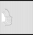 woman face white lines vector image vector image