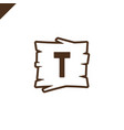 wooden alphabet or font blocks with letter t