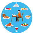 food and meal icons vector image