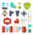 Icon Set Of City Elements vector image
