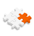 3d jigsaw puzzle pieces white pieces with one vector image vector image