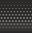 abstract seamless pattern with grey dots on black vector image