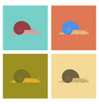 assembly flat bug snail vector image vector image