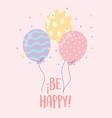 balloons confetti happy celebration party vector image
