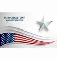 banner for memorial day american flag with star vector image vector image