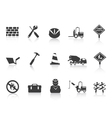 black Construction icon vector image vector image