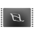 Blank film strip icon vector image