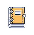 book- modern single line icon vector image vector image