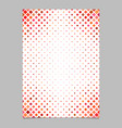 brochure template from red diagonal square pattern vector image vector image
