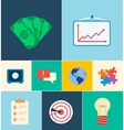 Business flat icons for infographic design vector image