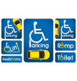 car disabled parking sign vector image