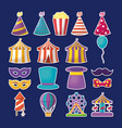 carnival circus design vector image vector image