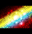 colorful digital technology concept abstract vector image
