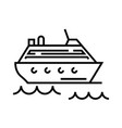 cruise ship line icon concept sign outline vector image