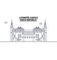 czech republic - litomysl castle travel famous vector image vector image
