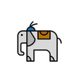 elephant animal flat color icon icon banner vector image vector image