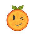 emoji - winking orange with happy smile isolated vector image