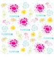 flower cute cartoon vintage gift wrapping design v vector image vector image