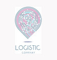 for logistic company on a white vector image