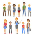 group of pupils of different races vector image vector image