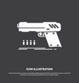 gun handgun pistol shooter weapon icon glyph vector image