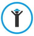 Happy Gentleman Circled Icon vector image vector image