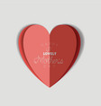 happy mothers day with heart card vector image