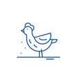 hen line icon concept hen flat symbol vector image