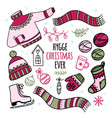 hygge christmas ever winter clothes vector image