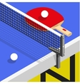 isometric Ping pong still life table vector image