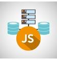 js language data base storage vector image vector image