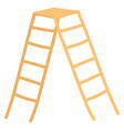 light brown ladder simple on white background vector image