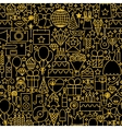 Line Gold Black Birthday Tile Pattern vector image