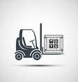logo forklifts with compartment vector image vector image