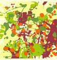 maroon orange yellow green ink splashes vector image vector image
