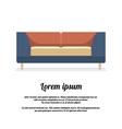 Modern Sofa Vintage Style vector image vector image
